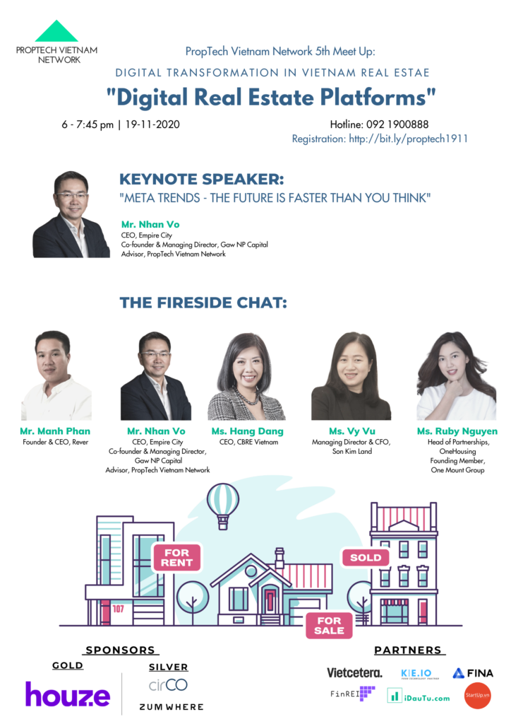 Official Poster for PropTech Vietnam Network 5th Event